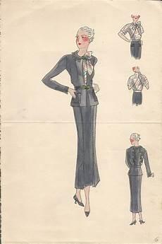 des modes gravure de mode 1930