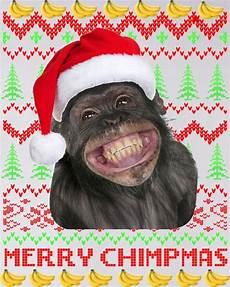 merry chimpmas monkey christmas sweater sweater teeshirtpalace
