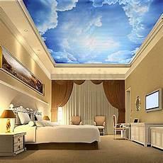 papier peint 3d 3d blue sky clouds backdrop mural wallpaper ceiling decal