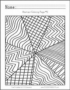 abstract coloring page 5 free to print pdf file abstract coloring pages abstract