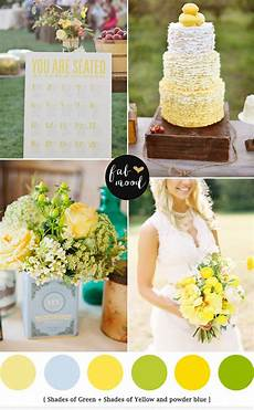 blue green yellow wedding colours palette