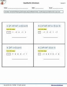 synthetic division worksheets with answers 6965 dividing polynomials using synthetic division worksheet synthetic division polynomials