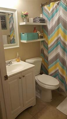 yellow and gray bathroom ideas small bathroom update less than 100 lowe s and hobby lobby yellow teal and gray bathroom