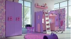 Kinderzimmer Lila Weiß - kinderzimmer mit hochbett princess lila pink design