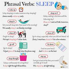 phrasal verbs sleep phrasel verbs english verbs english grammar english language learners