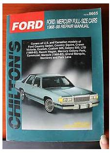 service manuals schematics 1985 ford tempo parking system chilton s ford mercury full size cars 1968 1988 repair manual 8665 diagrams ebay
