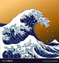 Japanisches Bild Welle - japanese wave royalty free vector image vectorstock