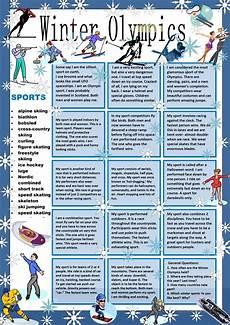 winter olympics esl worksheets 19995 winter olympics guess my sport worksheet free esl printable worksheets made by teachers