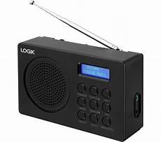 buy logik l2dab16 portable dab fm radio black free