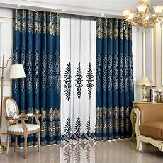 Navy And Gold Curtains by European Luxury Gold And Peacock Blue Curtains Chenille