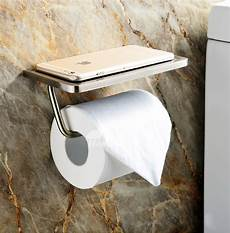 Toilet Paper Shelf Holder Wall Mounted by Toilet Paper Holder With Shelf Brushed Stainless Steel