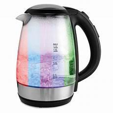 led wasserkocher powertec kitchen glas wasserkocher mit led farbwechsel von