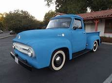 ford f 100 standard cab pickup 1955 blue for sale clear and visable 1955 ford f100 rat rod