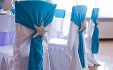themed wedding ideas reception chair decor white blue starfish