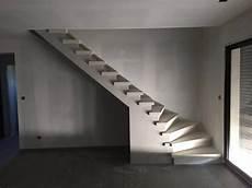 fabrication et pose d escalier en b 233 ton teint 233 224