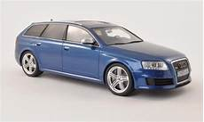modellautos audi rs6 1 18 ottomobile c6 avant bleu 2008