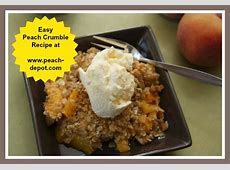 peach crisp with frozen peaches