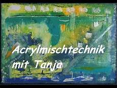 Acrylbilder Modern Selber Malen - acrylmalerei spachtel bild speed painting acrylics acryl