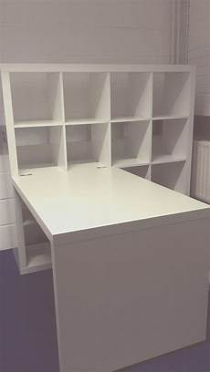 ikea regal mit schreibtisch desk storage combination ikea kallax white in 2019
