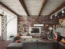 stylish exposed brick wall living rooms with exposed brick walls