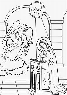imagenes cristianas para colorear anunciacion