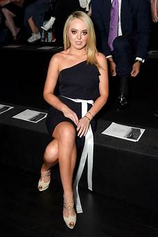 tiffany trump tiffany trump put legs on display in skirt belted peplum