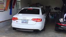audi b8 s4 awe track exhaust non resonated downpipes youtube