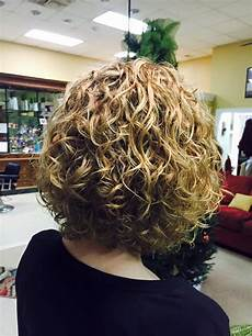 very medium length permed style with curl