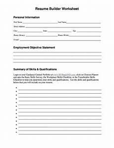 fill in the blank resume worksheet fill online printable fillable blank pdffiller