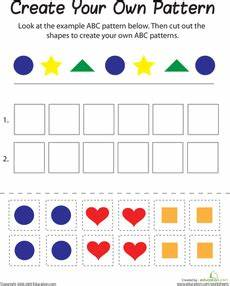 shapes pattern worksheets kindergarten 1167 shape patterns pattern worksheet math patterns shapes worksheet kindergarten