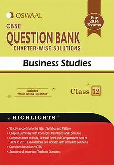 oswaal cbse question bank chapter wise solutions for class 12 business studies