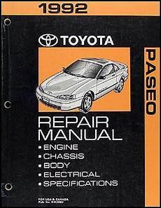 best car repair manuals 1995 toyota paseo instrument cluster 1992 toyota paseo repair shop manual original