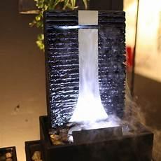 zimmerbrunnen flamme 46 wasserwand edelstahl schiefer