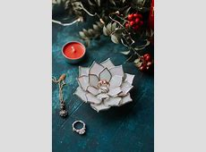 Stained Glass Succulent Ring Holder & Jewelry Dish by Waen