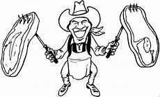 cowboy mit steaks ausmalbild malvorlage comics