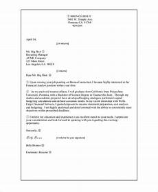 sle cover letter for resume 8 exles in word pdf