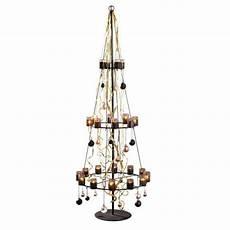teelichthalter christbaum metall glas ca h170 cm