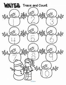 winter toddler worksheets 20108 winter trace and count by kidsparkz teachers pay teachers