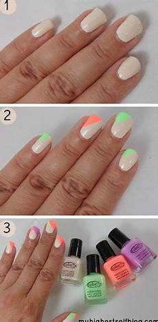 25 very easy simple step by step nail art tutorials for