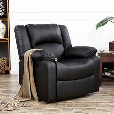 Recliner Chairs For Living Room Brown Black Leather