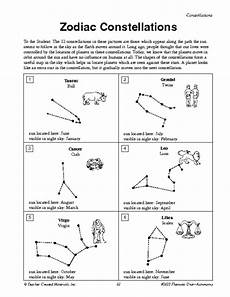 constellation chart worksheet zodiac constellations scouts education world