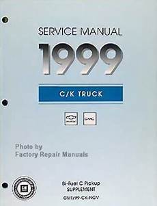 car repair manuals download 1999 gmc suburban 2500 on board diagnostic system 1999 chevy gmc truck bi fuel cng service manual supplement c k 1500 2500 3500 factory repair