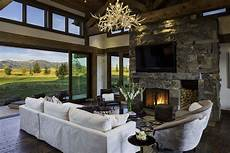 family retreat blends modern rustic with rocky mountain views