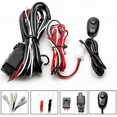 lite battery wire harness wiring harness kit 40a 12v on switch relay harness for led work light bar ebay