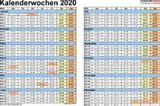 vorlage 3 kalenderwochen 2020 im querformat als excel