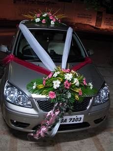 flowers and decoration wedding car decoration