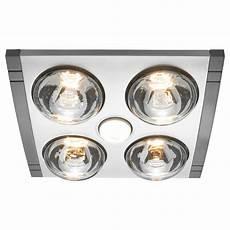 heller 3 in 1 ducted bathroom heater exhaust fan light silver stainless steel ebay