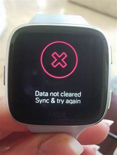 failed factory reset fitbit community