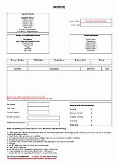 invoice for delivery order excel form templates at