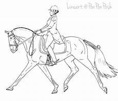 mare dressage lineart by ponponposh on deviantart